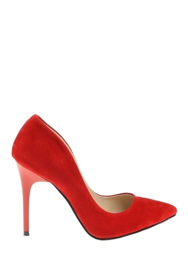 Derigo Topuklu Ayakkabı Kırmızı